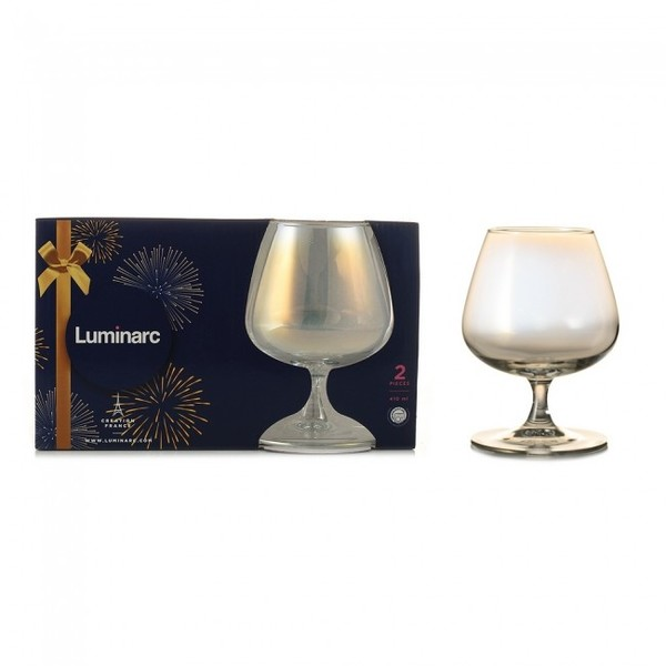 Набор бокалов для коньяка Luminarc CELESTE Золотистый хамелеон 2x410 мл.