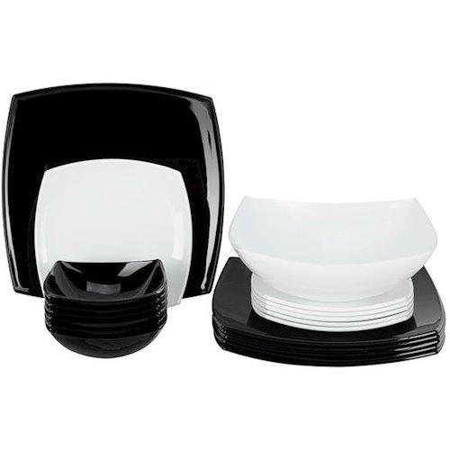 Сервиз Luminarc QUADRATO BLACK & WHITE 19 предметов (C5239)