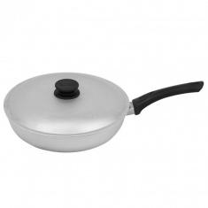 Сковорода глубокая алюминиевая с крышкой 22 см (А223)