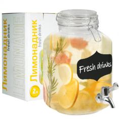 Лимонадник с доской для надписей 2л (9037)