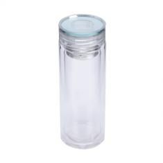 Термос стеклянный с двойной стенкой 320мл (стеклянная крышка) 8013-2