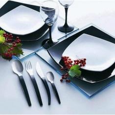 Сервиз Luminarc QUADRATO BLACK & WHITE19+6 предметов