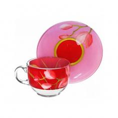 Сервиз для чая Luminarc RED ORCHIS 6x220 мл.