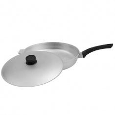 Сковорода Биол с рифленым дном и крышкой 30 см. (А302)