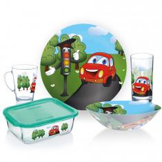 Набор детской посуды LUMINARC VROOM 5 предметов (P7868)