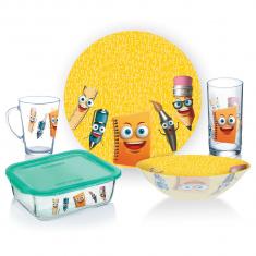 Набор детской посуды  LUMINARC STATIONERY  5 предметов (P7866)