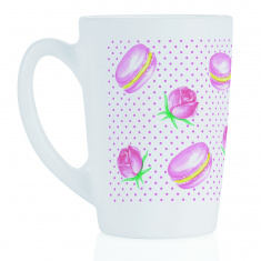 Чашка LUMINARC NEW MORNING ROSE MACAROONS /320 мл (Q0567)