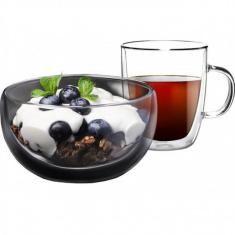 Набор для завтрака - пиала и чашка с двойными стенками Ardesto  (AR2650BG)