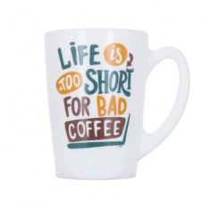 Чашка LUMINARC NEW MORNING LIFE IS SHORT /320 мл (P8838)