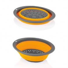Дуршлаг QLUX 3х29.5x23 см пластик/силикон (L-00570)