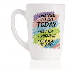 Чашка LUMINARC NEW MORNING THINGS TO DO /320 мл. (Q3831)