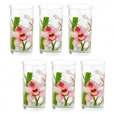 Набор стаканов высоких LUMINARC RED ORCHIS 6X270 мл.