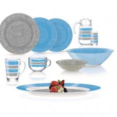 Столовый сервиз Stony Blue & Grey 46 предметов (Q4728)