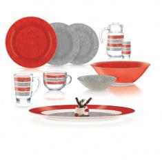 Столовый сервиз LUMINARC AMB STONY RED&GREY 46 предметов (Q4731)