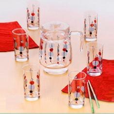Набор для напитков LUMINARC KYOKO WHITE 7 предметов.