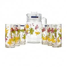 Набор для напитков Luminarc CRAZY FLOWERS 7 предметов.