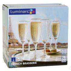 Набор бокалов для шампанского Luminarc FRENCH BRASSERIE 6х170 мл.