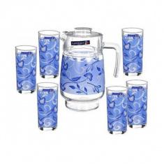 Набор для напитков Luminarc PLENITUDE BLUE 7 предметов