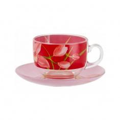 Сервиз кофейный Luminarc RED ORCHIS 6x160 мл.