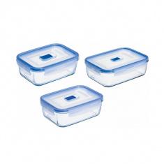 Набор прямоугольных контейнеров Luminarc PURE BOX ACTIVE 3 предмета (J3977)
