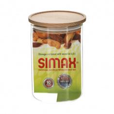 Банка Simax для хранения 0,8л с деревянной крышкой (s5152/LW)