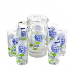 Набор для напитков Luminarc HORTENSIA BLUE 7 предметов