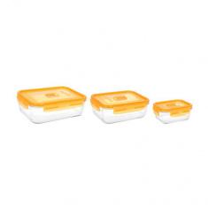 Набор прямоугольных контейнеров Luminarc PURE BOX ACTIVE NEON 3 предмета