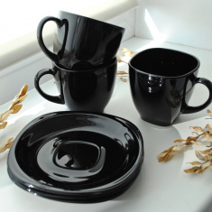 Сервиз Luminarc для чая Carine BLACK, 12 предметов 6х220 мл. D2322