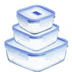 Набор квадратных контейнеров Luminarc PURE BOX ACTIVE 3 предмета