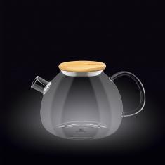 Заварочный чайник с бамбуковой крышкой Wilmax Thermo 1000мл WL-888823 / A