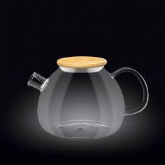 Заварочный чайник с бамбуковой крышкой Wilmax Thermo 1200мл WL-888824 / A
