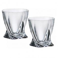 Набор стаканов для виски Bohemia Quadro 340 мл 6 шт (b2k936-99A44_1901)