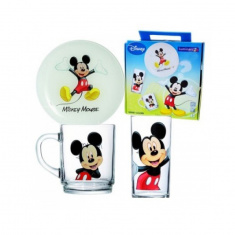 Набор детский Luminarc DISNEY COLORS MICKEY 3 предмета