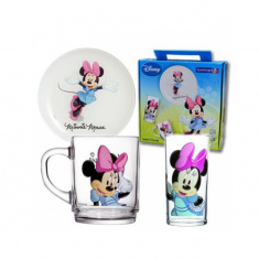 Набор детский Luminarc DISNEY COLORS MINNIE 3 предмета