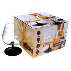 Набор бокалов для коньяка Luminarc DOMINO 4x410 мл.