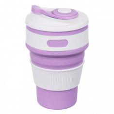 Складная силиконовая чашка Collapsible 350 мл Фиолетовый