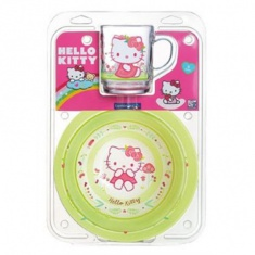 Набор детский Luminarc HELLO KITTY Nordic Flower 3 предмета