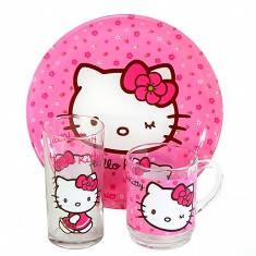 Набор детский Luminarc HELLO KITTY Sweet Pink 3 предмета