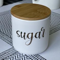 Банка ВonaDi Sugar 550 мл с бамбуковой крышкой (100500)