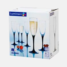 Набор бокалов для шампанского Luminarc DOMINO 6 предметов