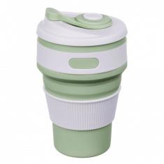 Складная силиконовая чашка Collapsible 350 мл Зеленый