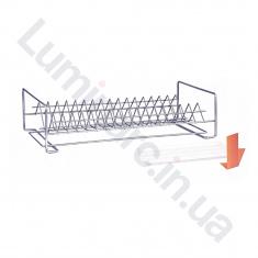 Сушилка для посуды с поддоном 400мм Хром 1 ярус (СП14122)