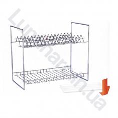 Сушилка для посуды с поддоном 400мм Хром 2 ярус (СП24112В)