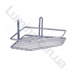 Полка угловая для ванной комнаты 20см 1 ярус 2 контура (ПУ20122)