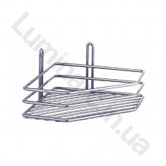 Полка угловая для ванной комнаты 20см 1 ярус 3 контура (ПУ20132)