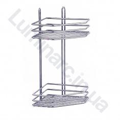 Полка угловая для ванной комнаты 20см 2 яруса 3 контура (ПУ20232)