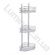 Полка угловая для ванной комнаты 20см 3 яруса 3 контура (ПУ20332)