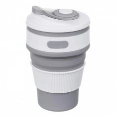 Складная силиконовая чашка Collapsible 350 мл Серый