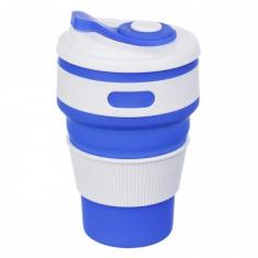 Складная силиконовая чашка Collapsible 350 мл Синий