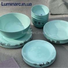 Сервиз Luminarc DIWALI LIGHT TURQUOISE 25 предметов.(j9825)(сборный)